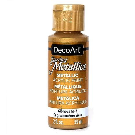 Decoart Americana Acrylic Metallic Paint Glorious Gold