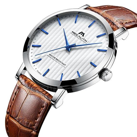 Relojes de Hombre Relojes de Pulsera Impermeable Deportivo Moda Lujo Clásico Simple Diseño Reloj de Cuero
