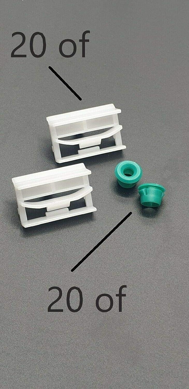 10 o 20 unidades de clips de montaje de tira lateral partes 51718184574 y 51711932996 arandelas para 3 series E36 E46 E90 y E91