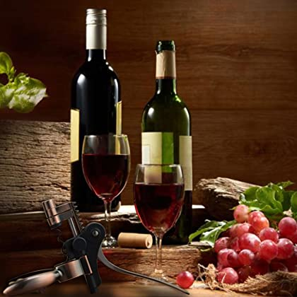 Standing Wine Opener Bottle With Suction Bottom Foil Cutter Lifestudio