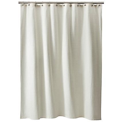 Amazon.com: Threshold Shower Curtain Waffle - Ivory: Home & Kitchen