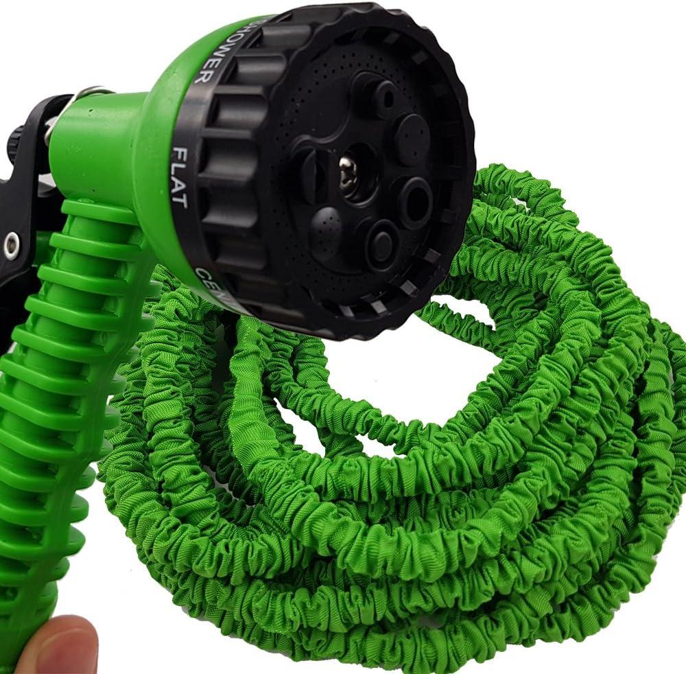 PROHEIM Manguera Extensible y Flexible Manguera de jardín 10-30 Metros de Color Verde - Sin retorcimientos: Amazon.es: Jardín