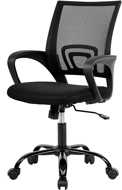 Amazon Com Kovalenthor Office Chair Desk Chair Computer Chair Ergonomic Adjustable Stool Back Support Modern Executive Rolling Swivel Chair Chair Swivel Office Chair Kitchen Dining
