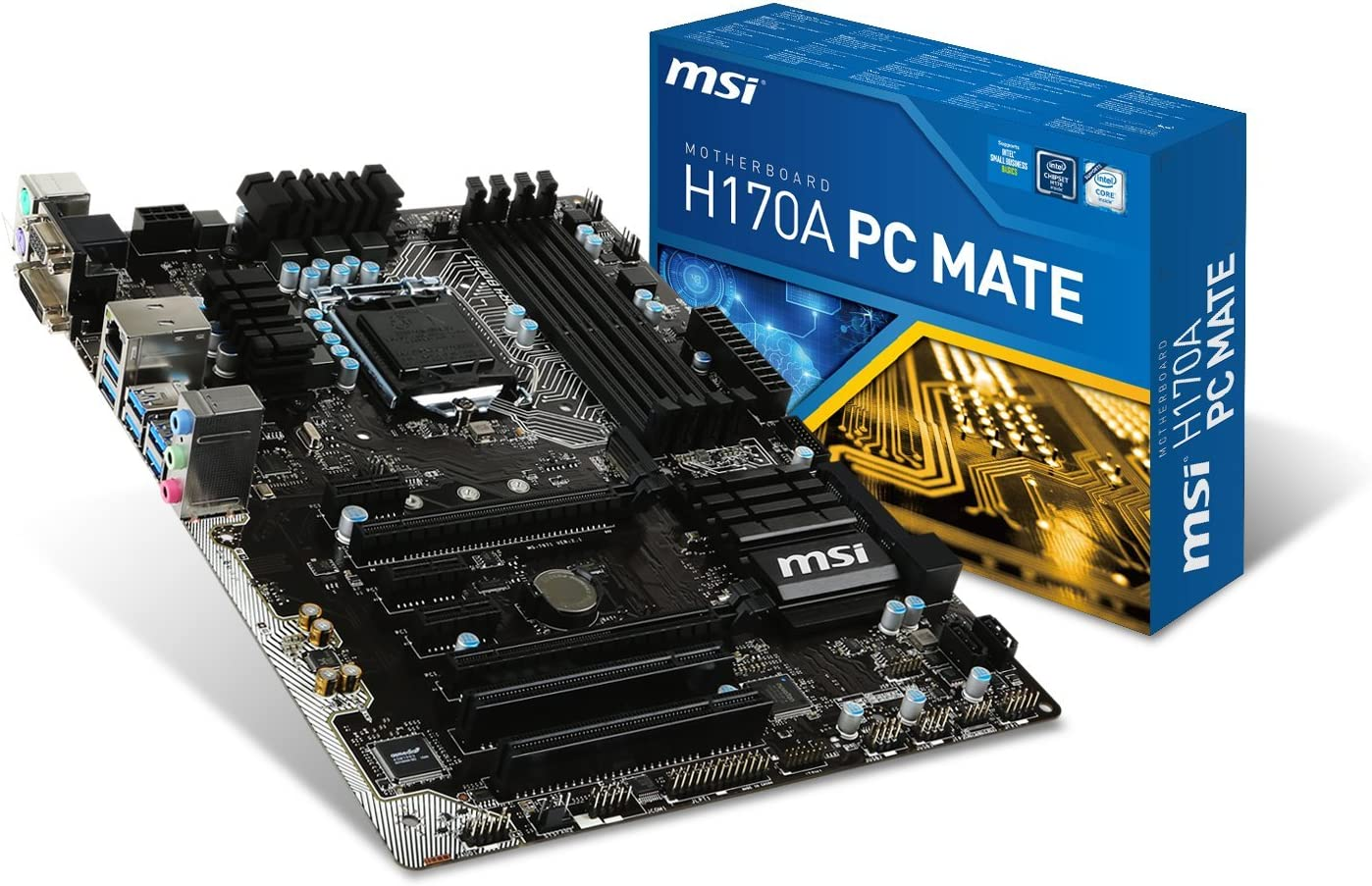 MSI Intel Skylake H170 LGA 1151 DDR4 USB 3.1 ATX Motherboard (H170A PC Mate)