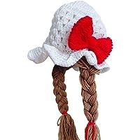 KERDEJAR Lindo idílico Hecho a Mano Tejido a Mano bebé niña Twist Braid Hat Pelucas Infantiles Brades Kid Crochet Gorras…