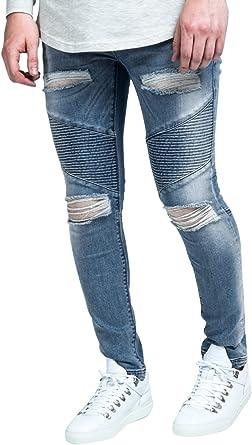 Sik Silk Herren Skinny Jeans Gr. XL 44W, Stonewash Blue  Amazon.de ... 41d5971023