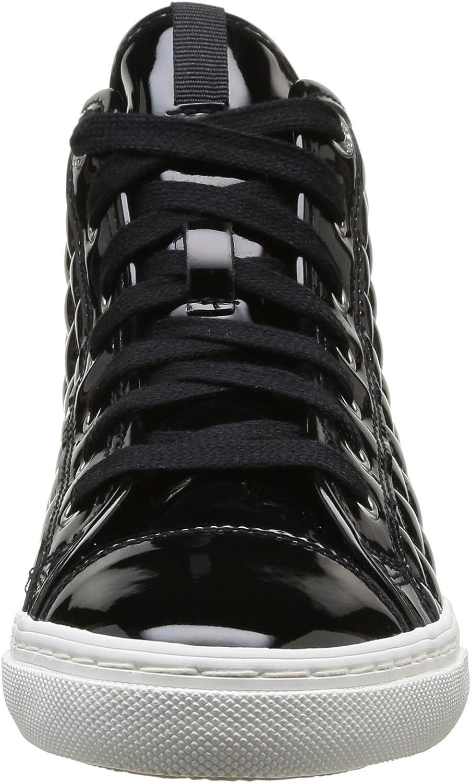 Geox Women/'s D iyo New Club A Low-Top Sneakers 36 EU Black C9999