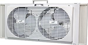 """Comfort Zone CZ309 - 9"""" Twin Portable Window Fan, White"""