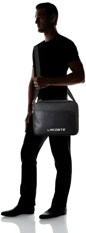 Lacoste Sac Homme Access Basic Port/é /Épaule 29x9.5x38 cm Black W x H x L Noir