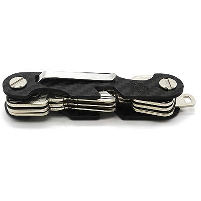 Rango Project Keycage Organizador de Llaves de Bolsillo. Llavero Desmontable para Hombres. Guarda Llaves de Fibra de Carbono. Abre Botella. Smart Key