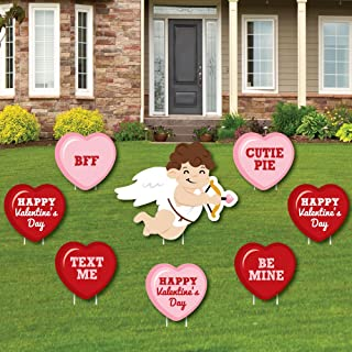 product image for Big Dot of Happiness Conversation Hearts - Yard Sign & Outdoor Lawn Decorations - Valentine's Day Party Yard Signs - Set of 8