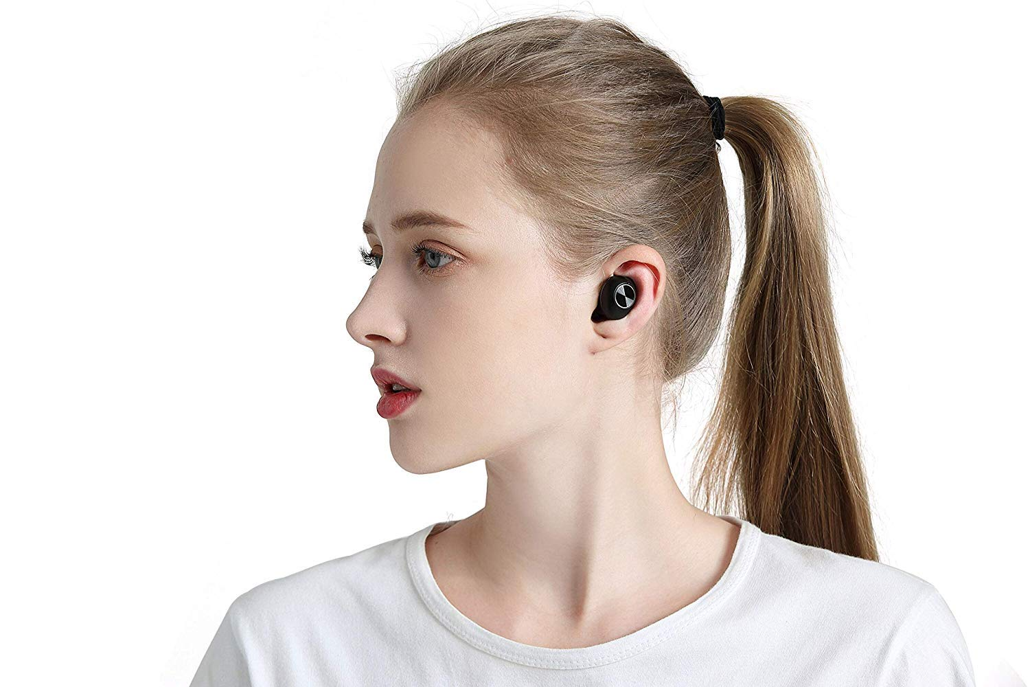 True Wireless Earbuds Bluetooth Headphones Wireless Earphones Noise Cancelling Headphones with Mic in-Ear HiFi Stereo Auto Pairing Binaural Calls 20h Playtime Portable Charging Case SeeYing L18