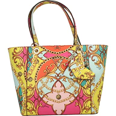 7db9c26753 Guess Kamryn Tote Coral Multi: Amazon.fr: Chaussures et Sacs