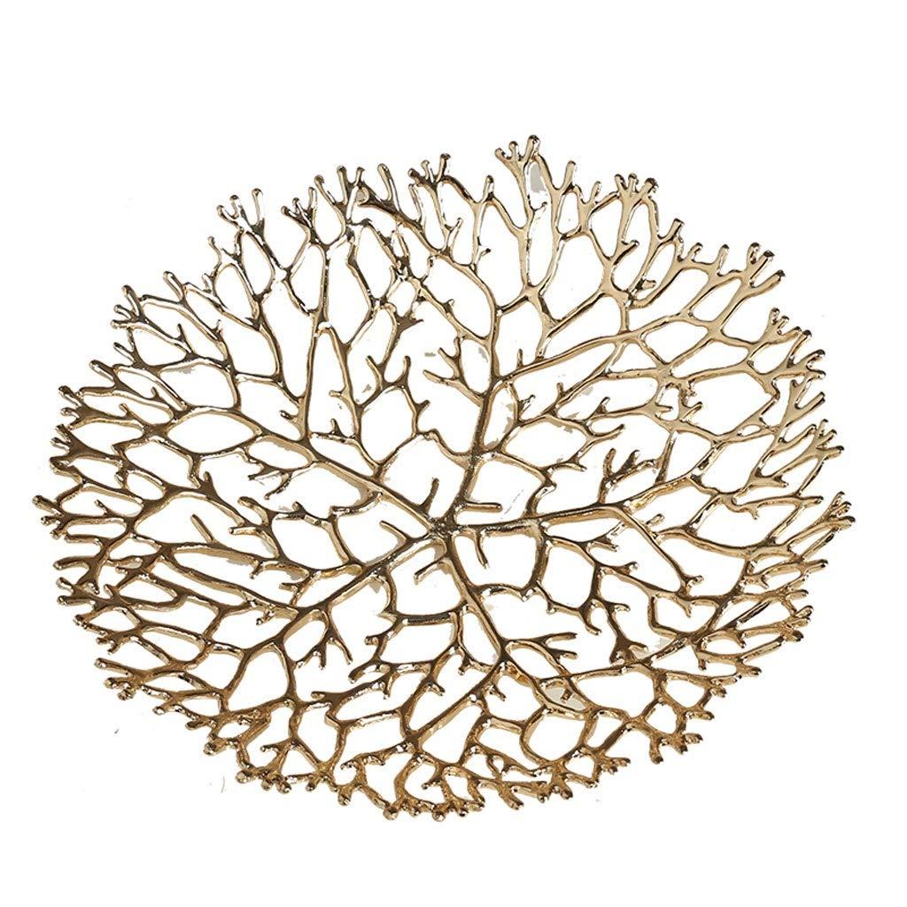 Selm フルーツバスケット、クリエイティブフルーツプレート北欧スタイル金属銅スナックプレート野菜収納バスケットテーブルダイニング装飾は果物や野菜を新鮮なままにします (サイズ さいず : M m) M m  B07RBKTMWL