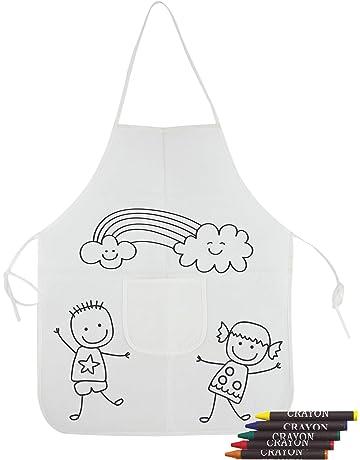 DISOK- Lote de 20 Delantales para Pintar para niños - Labores, Manualidades, Handmade