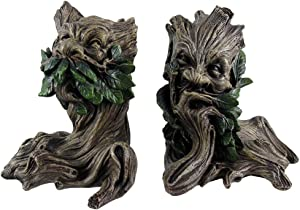 Beautiful Green Man Greenman Decorative Bookends Tree Man