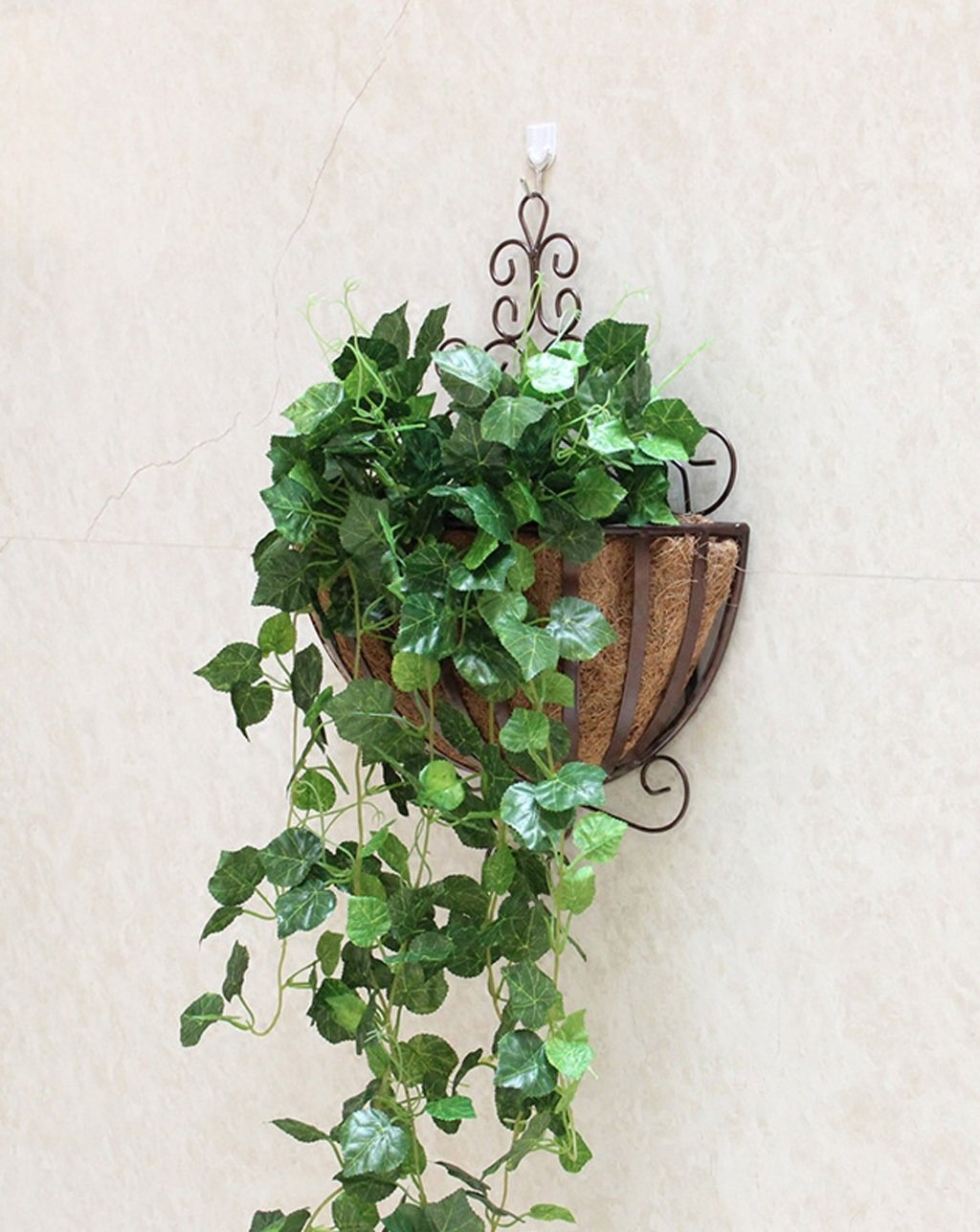 ZENGAI 植物スタンド2個、壁掛けフラワーポットラック吊り屋内バルコニーアイアンフラワーフレームは、盆栽フレームの壁に吊るす フラワースタンド ( 色 : B ) B07B6WHYFM B B