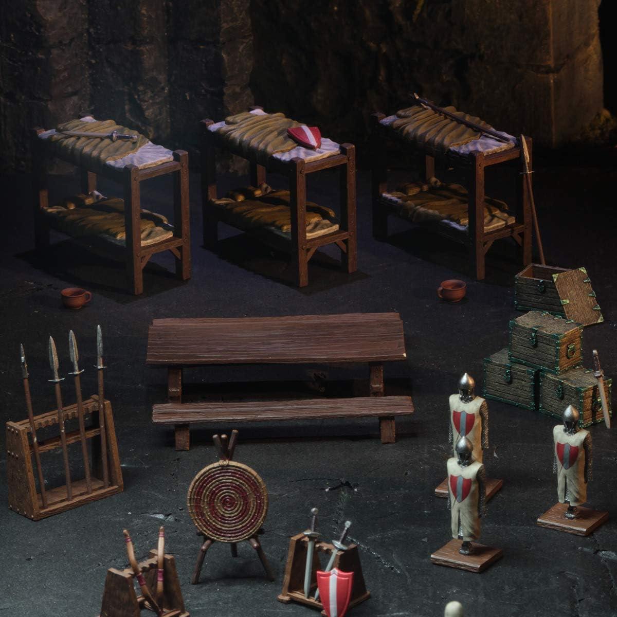 D/&D Miniatures 4D Settings Castle Barracks SPEAR