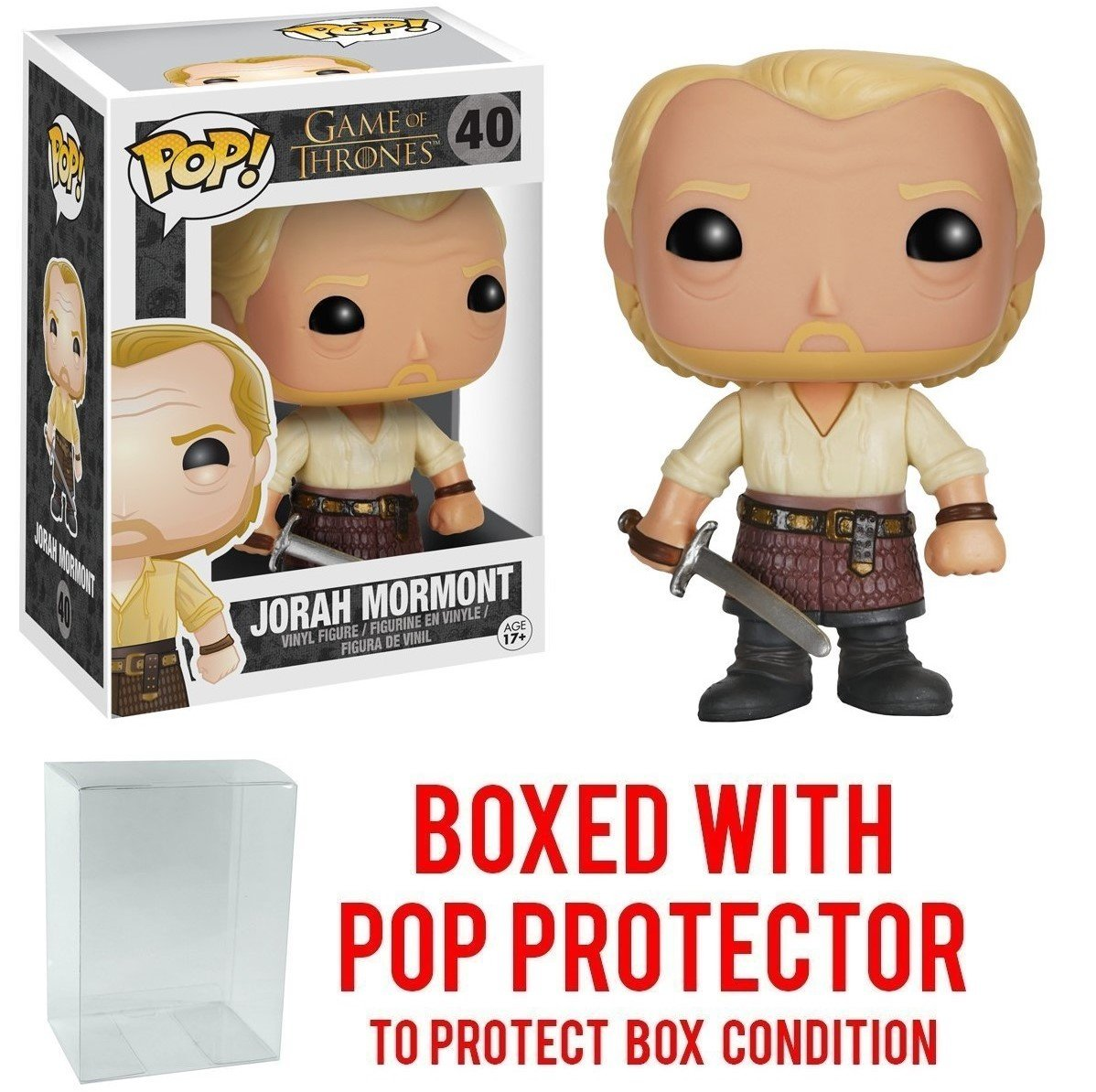 Funko Pop! Game of Thrones: GOT - Jorah Mormont #40 Vinyl Figure (Bundled with Pop BOX PROTECTOR CASE)