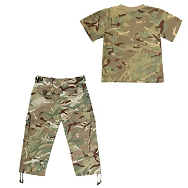 7e49887b KAS Big Boys' Multi Terrain Pattern Camouflage - Tshirt & Trousers 11/12 yrs