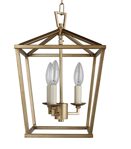 online store 8a0c7 576a2 Cage Pendant Light Lantern Iron Art Design 3-Heads Candle-Style Chandelier  Ceiling Light Fixture for Hallway Kitchen Dinning Room Bar Restaurant (W ...