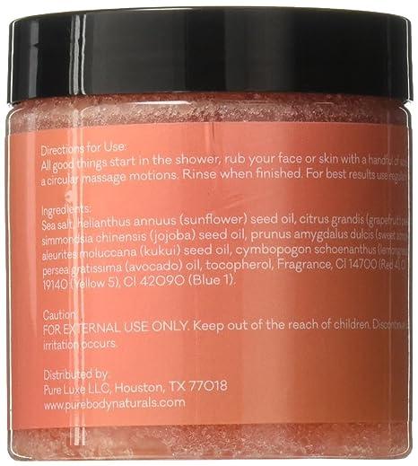 18adf92b4f Exfoliating Grapefruit Body Scrub for Face and Body Exfoliating Scrub for  Acne and Inflammation, 12 Ounce...
