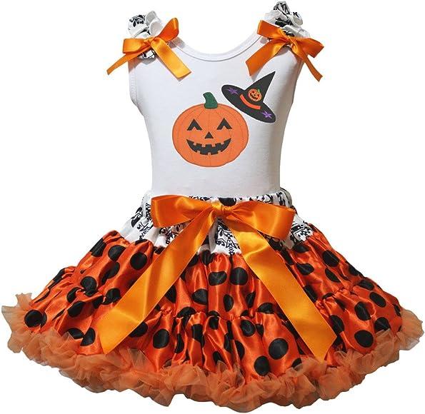 Petitebelle Halloween calabaza sombrero de bruja camisa de color ...