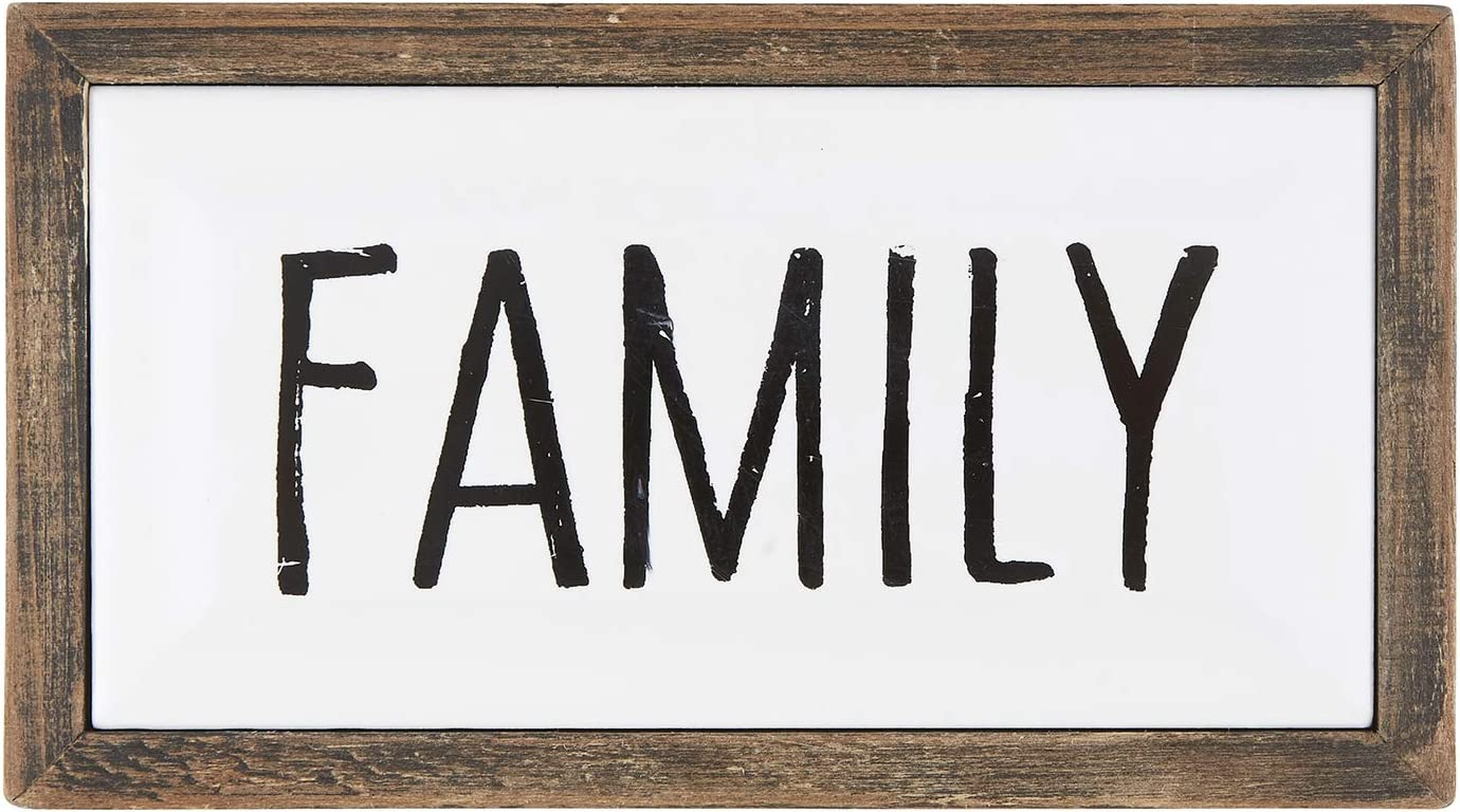 Creative Brands Faithworks - Inspirational Enameled Wall/Tabletop Plaque, 7.5 x 4-Inch, Family