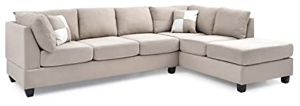 Amazon Com Glory Furniture G631 Sc Sectional Sofa Beige 2 Boxes