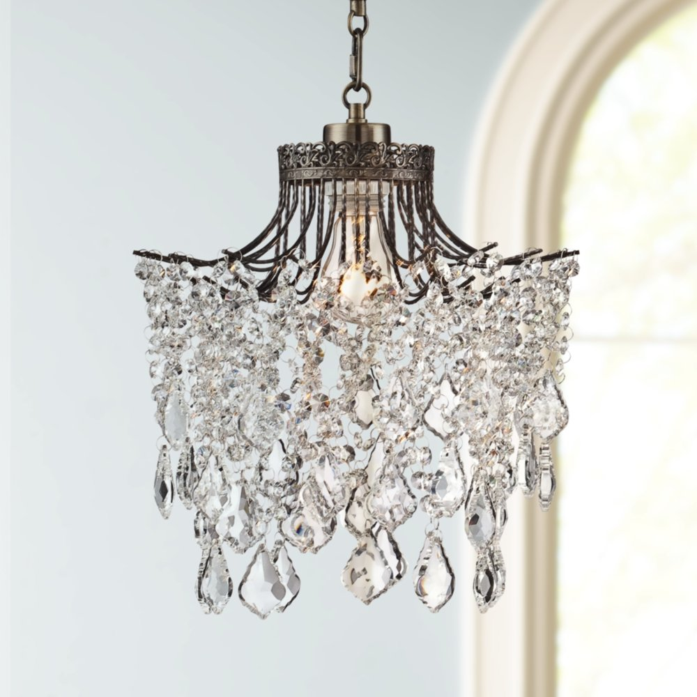 kit light crystal chandelier plug swirl a in with
