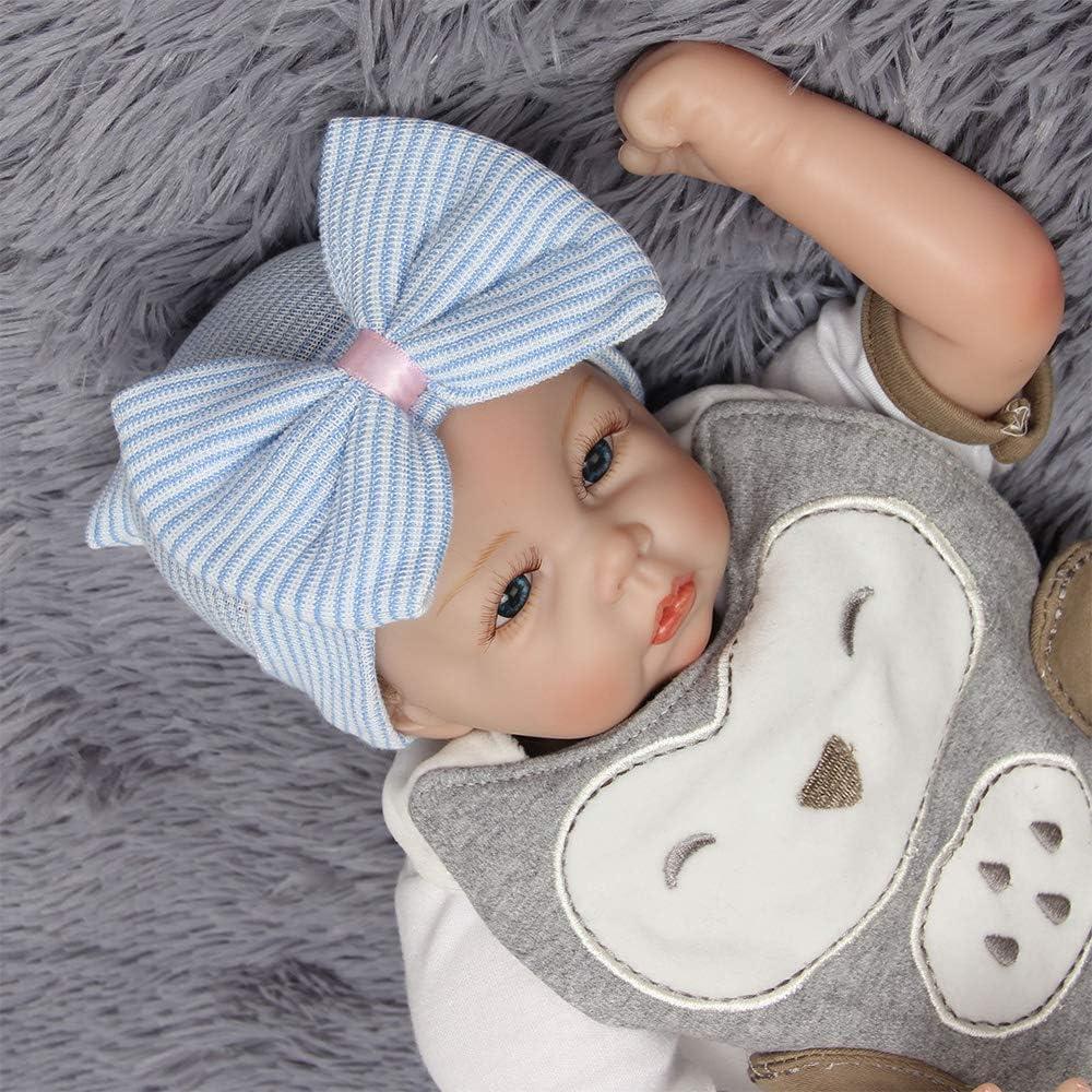 4 Pcs Newborn Handmade Hat with Big Bow Newborn Soft Cute Lovely Hat Gobesty Newborn Hospital Hat