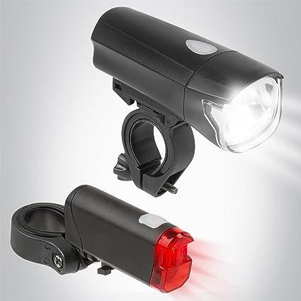 5 LED Fahrradbeleuchtung Set Lampensatz Fahrrad Sicherheit