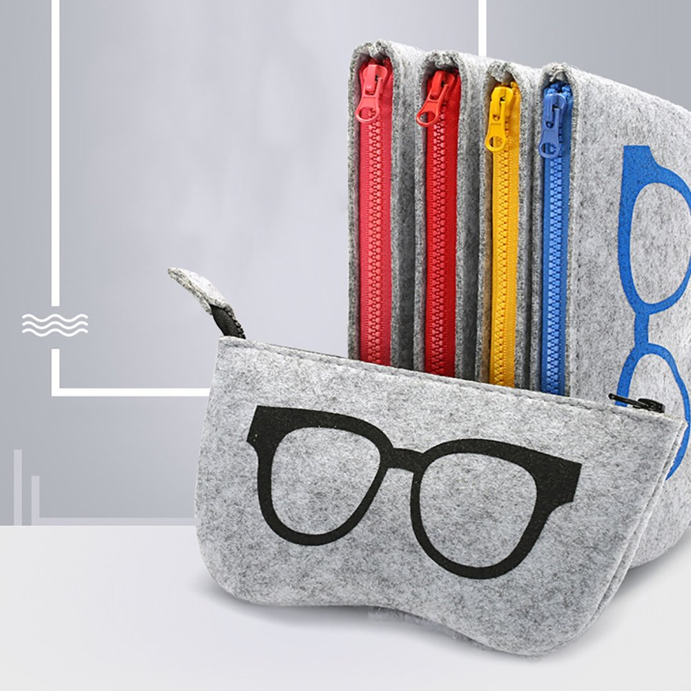 Amazon.com: Gafas de fieltro de lana para mujer, bolsa con ...