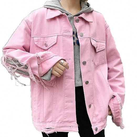 Huiwa Womens Denim Jacket BF Wind Hole Hollow Out Bomber Jackets High Street Coat at Amazon Womens Coats Shop