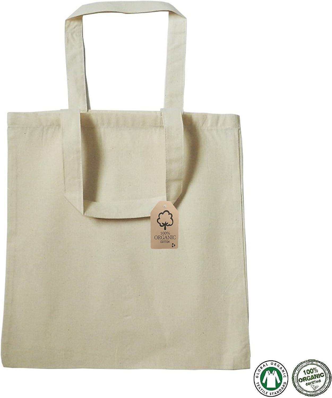 Algodón orgánico bolsa Bulk reutilizable respetuoso con el medio ...