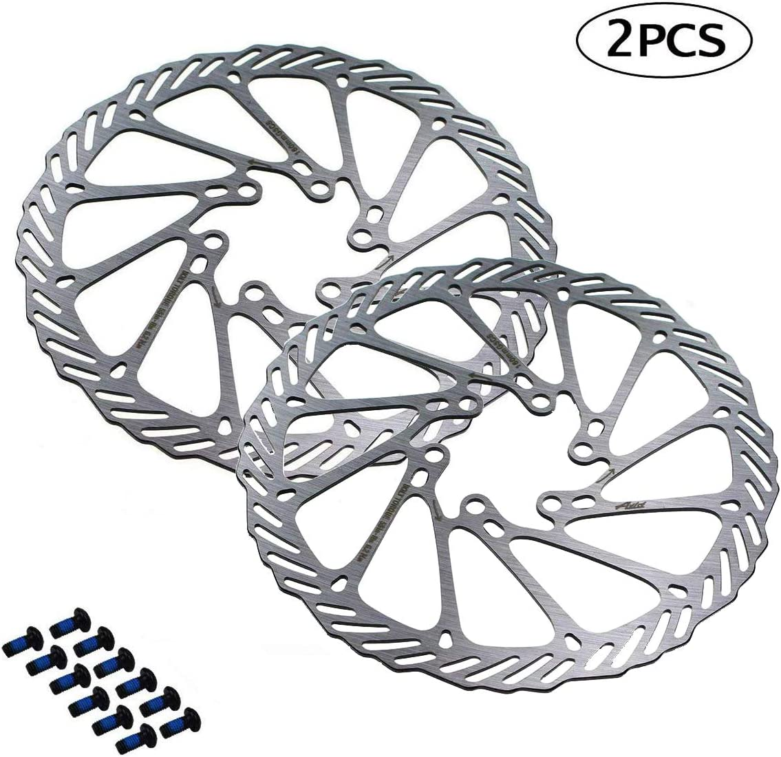 Mountain Bike MTB BNVB 160//180//203mm Disc Brake Rotors,2Pcs//Set G3 Stainless Steel Rotor Bicycle Disc Brake Rotors with Bolts for Road Bike BMX
