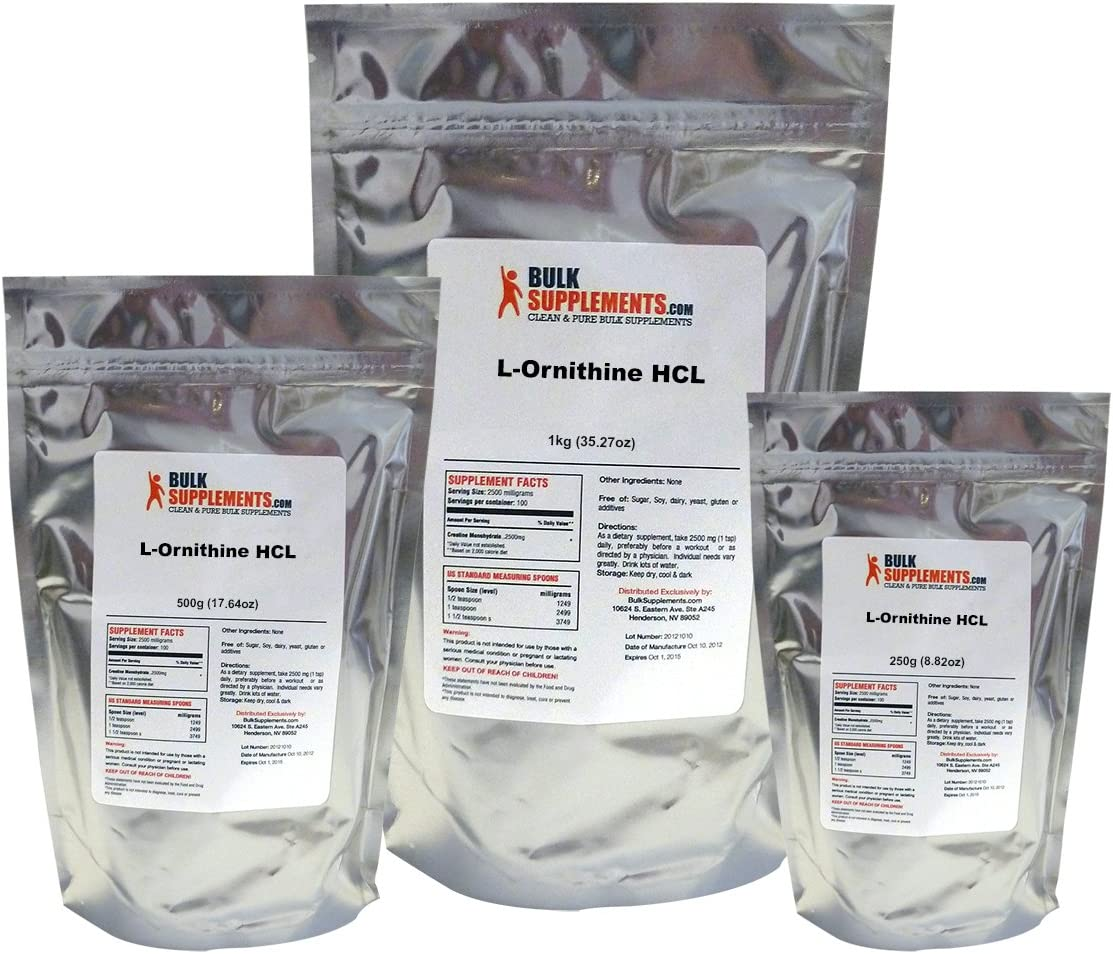 BulkSupplements L-Ornithine HCL Powder 25 kilograms
