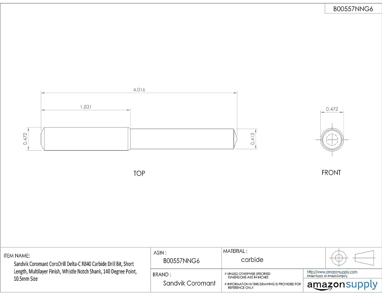 Sandvik Coromant R840-1000-30-W0A1220 CoroDrill Delta-C solid carbide drill