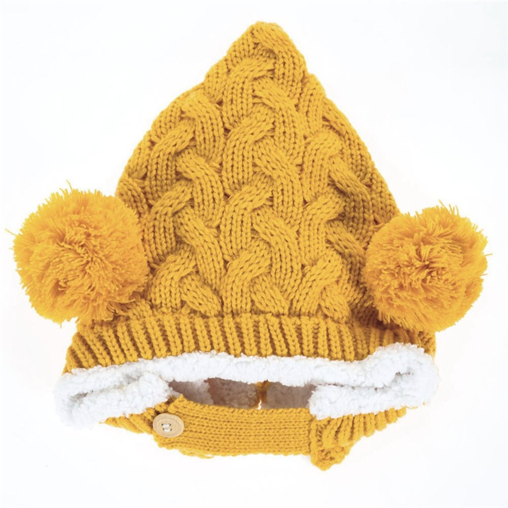 BuyHereキュートunisex-babyニットキャップKeeping Warm in Winter イエロー BuyHere B00SE7NS1E  イエロー