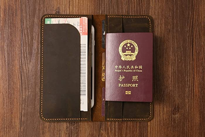 Amazon Com Personalized Distressed Genuine Leather Passport Wallet