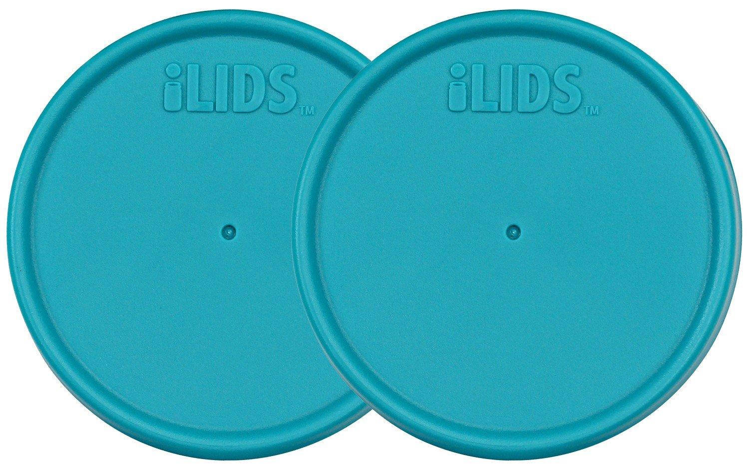 iLIDS Mason Jar Storage Lid, Regular Mouth, BPA Free, Made in the USA, Aqua Blue, 2-Pack