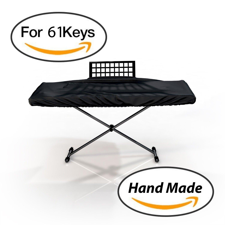 Interpro Dust Cover for 61 Keys Keyboard in Black - Size: 3''(H) x 38''(W) x 14.5''(D).