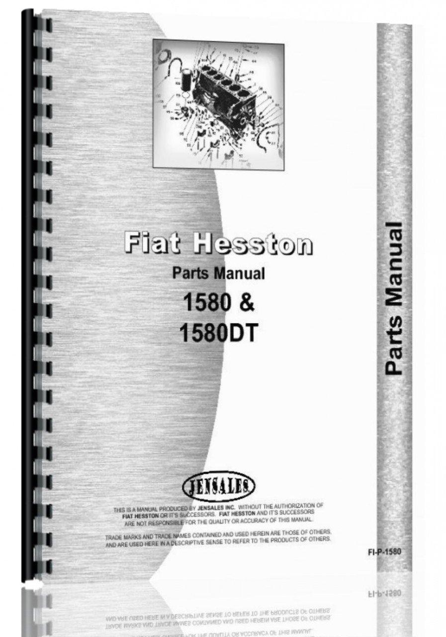 Hesston 1580DT Tractor Parts Manual pdf epub
