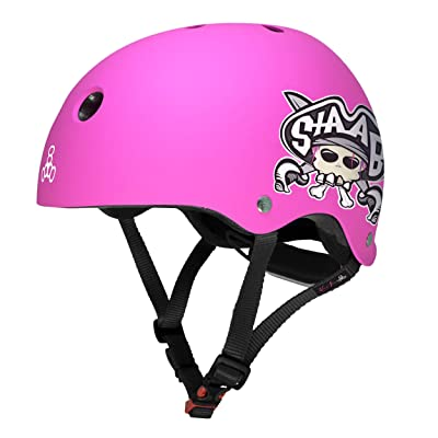 Triple Eight Lil 8 STAAB Dual Certified Sweatsaver Kids Skateboard and Bike Helmet, Neon Pink Matte : Sports & Outdoors