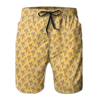 Colorful Sweet Pineapple Mens Swim Trunks Beach Shorts with Mesh Lining Boardshort