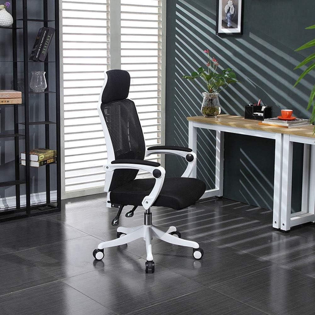 コンピュータチェア、学生オフィス回転チェア会議アームレストチェアスタッフメッシュシート360度回転調節可能なシート高さレバー演算子椅子人間工学的コンセプト耐久性と安定