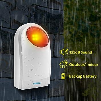 Sirena de luz estroboscópica para interiores y exteriores ...