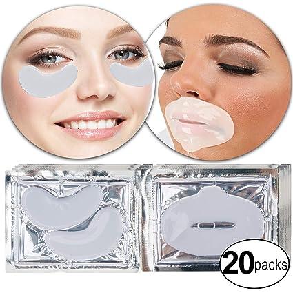 VAGA Set de 20 pares de parches de colageno blanco para ojos ...