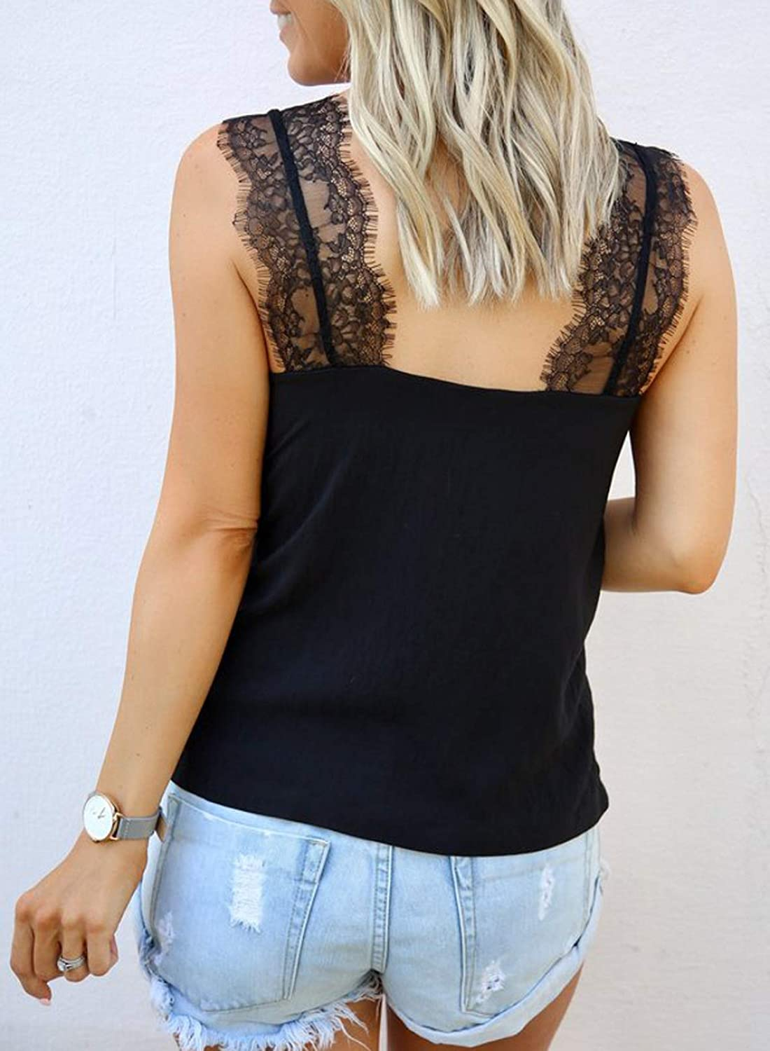 Women V-Neck Long Sleeve Lace Patchwork Casual Loose Bikini Cover Up EA9