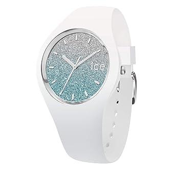 Damenuhr Watch Ice Weiße White Silikonarmband Blue Mit Lo 45jL3AR